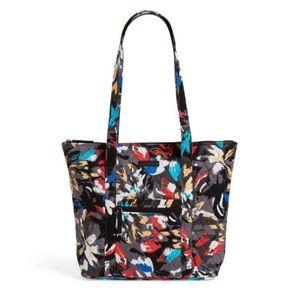 NWT - Vera Bradley Black Splash Floral Tote Bag